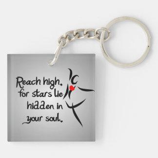 Heartfelt-Reach High Dance Double-Sided Square Acrylic Keychain