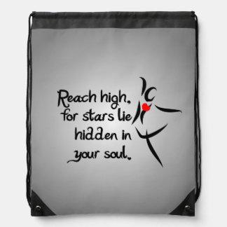 Heartfelt-Reach High Dance Drawstring Bag