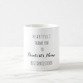 Heartfelt Thank You Best Dentist Ever Typography Coffee Mug