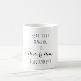 Heartfelt Thank You Best Doctor Ever Typography Coffee Mug