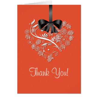 Heartfelt Thank You Card - tangerine