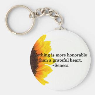 Heartfelt Thanks Basic Round Button Keychain