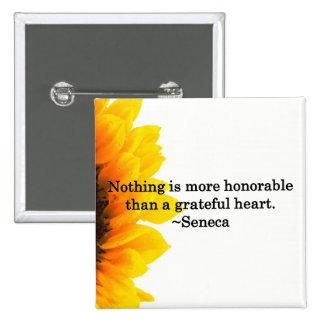Heartfelt Thanks Pinback Button