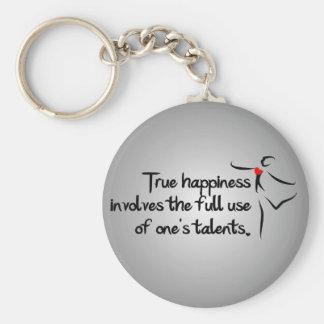 Heartfelt-True Happiness Dance Basic Round Button Keychain