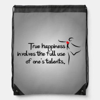 Heartfelt-True Happiness Dance Drawstring Bag