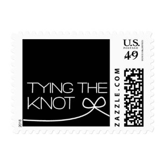Heartfelt - Tying the Knot - Black Postage Stamp