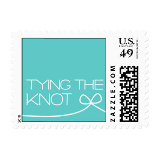 Heartfelt - Tying the Knot - Blue Postage Stamp