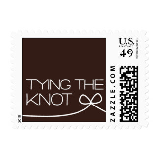 Heartfelt - Tying the Knot - Brown Stamp