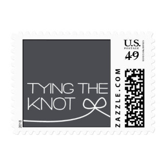 Heartfelt - Tying the Knot - Gray Stamp