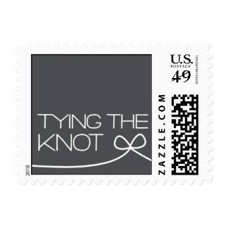 Heartfelt - Tying the Knot - Gray Stamp