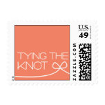 Heartfelt - Tying the Knot - Pink Postage Stamps