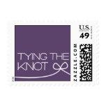Heartfelt - Tying the Knot - Purple Stamp