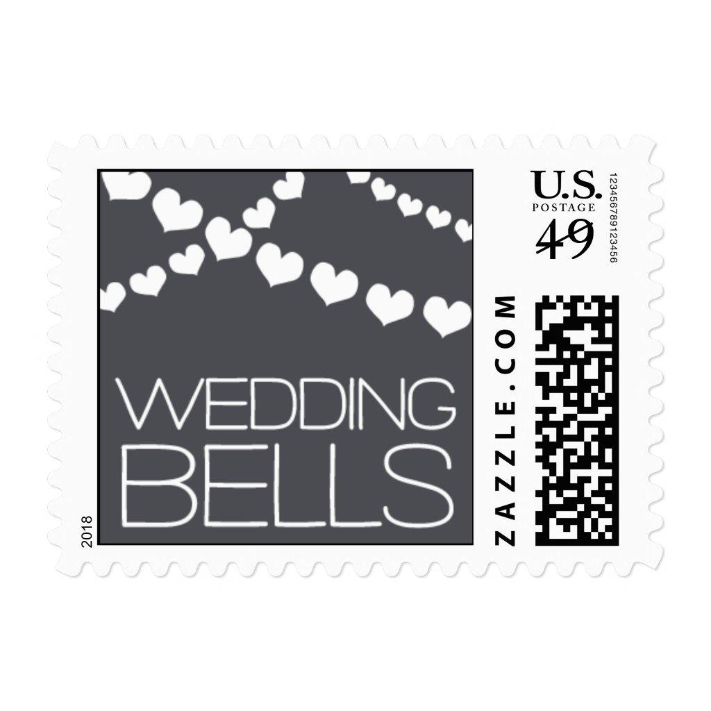 Heartfelt - Wedding Bells - Gray Postage