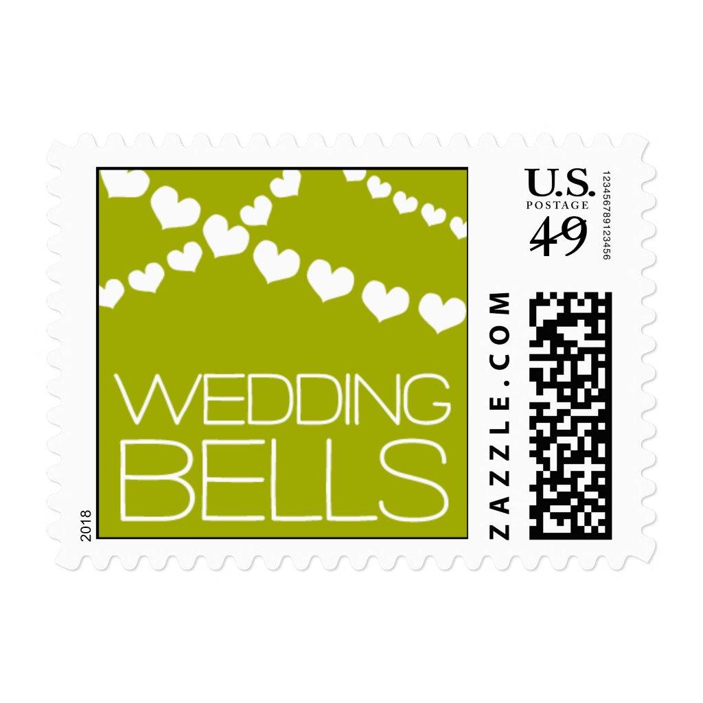 Heartfelt - Wedding Bells - Green Postage Stamps