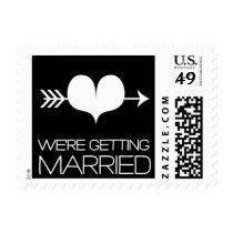Heartfelt - We're Getting Married - Black Postage