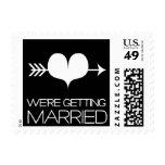 Heartfelt - We're Getting Married - Black Stamp
