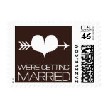 Heartfelt - We're Getting Married - Brown Stamps