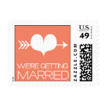 Heartfelt - We're Getting Married - Pink Stamp