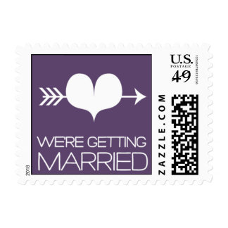 Heartfelt - We're Getting Married - Purple Stamps