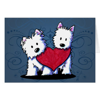 Heartfelt Westie Duo Card