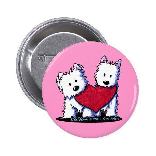 Heartfelt Westies Button