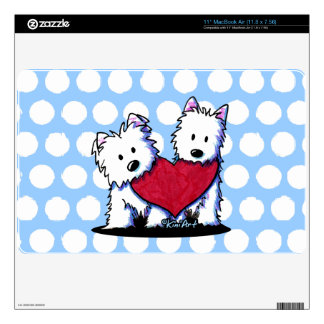 Heartfelt Westies Laptop Skin