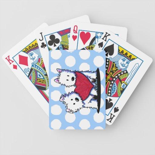 Heartfelt Westies Playing Cards