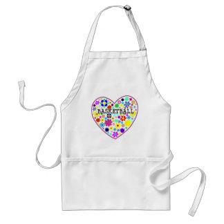 heartfilledwithflowers-basketball. adult apron