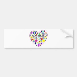 heartfilledwithflowers-basketball. bumper sticker