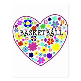 heartfilledwithflowers-basketball. postcard
