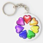HeartFlower Basic Round Button Keychain