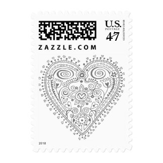 Heartflower (Grey) Postage