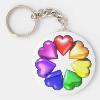 HeartFlower Keychain