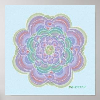 HeartFlower Mandala (TM) print