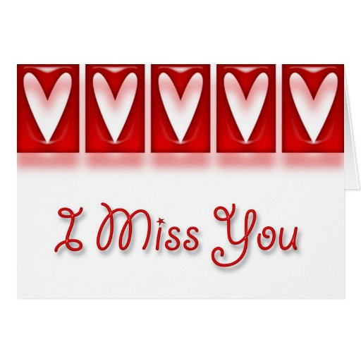 HeartFrames I Miss You Card