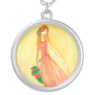 Hearth Fairy Round Pendant Necklace