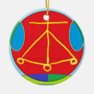 HEARTH Karuna Reiki Energy Double-Sided Ceramic Round Christmas Ornament