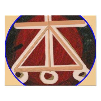 HEARTH - Karuna Reiki Healing Symbol 4.25x5.5 Paper Invitation Card