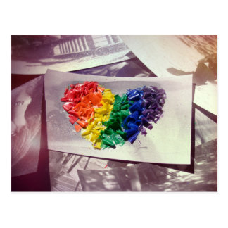 Hearthues (Crayon Love) Postcard