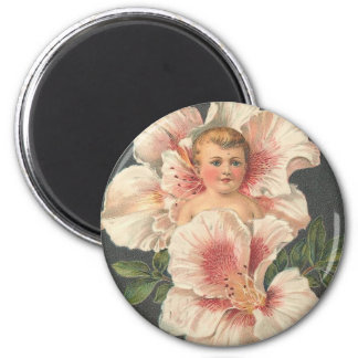 Heartiest Congratulations Flower Child 2 Inch Round Magnet