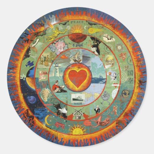 HeartImageFreda Classic Round Sticker