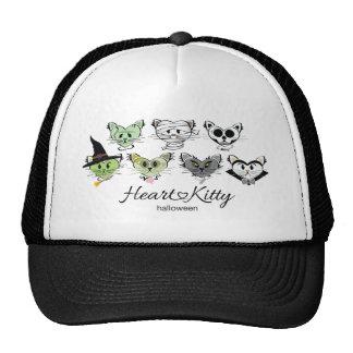 HeartKitty Halloween Cats Trucker Hat