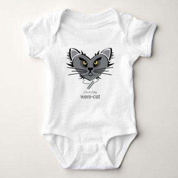 Halloween Themed HeartKitty Were-Cat Baby Bodysuit