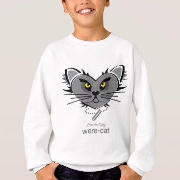 Halloween Themed HeartKitty Were-Cat Sweatshirt