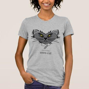 Halloween Themed HeartKitty Were-Cat T-Shirt