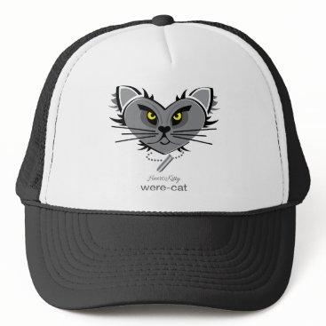 Halloween Themed HeartKitty Were-Cat Trucker Hat