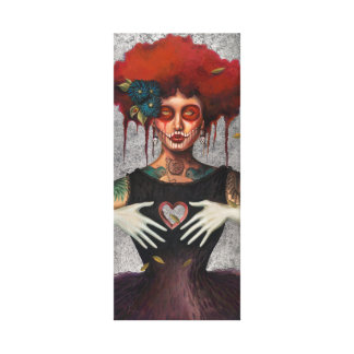 Heartless Day of the Dead by Sylvia Lizarraga Canvas Print