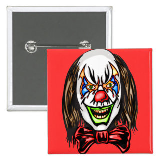 Heartless Evil Clown 2 Inch Square Button