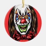 Heartless Evil Clown Double-Sided Ceramic Round Christmas Ornament