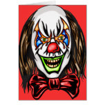 Heartless Evil Clown Stationery Note Card
